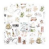 AIUIN 45x Ephemera Set Notizsticker im Stil von Das Hauch von Grün Aufkleber Japan Mädchen/Junge Sticker für Kinder Deko Sticker DIY Handbuch Tagebuch Dekoration Sticker (Style 7)
