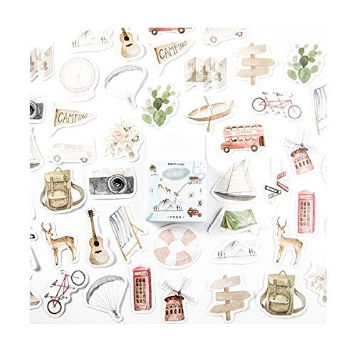 AIUIN 45x Ephemera Set Notizsticker im Stil von Ich werde Reisen Aufkleber Japan Mädchen/Junge Sticker für Kinder Deko Sticker