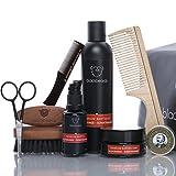 ORIGINAL blackbeards Bartpflege Set Ultimativ Blutorange-Sumatraharz – Hochwertiges Set für alle Vollbärte – Für die tägliche Bartpflege – Zehnteiliges Set mit allem, was dein Bart braucht.
