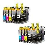 Liondo 10 Tintenpatronen kompatibel zu Brother LC223XL DCPJ4120DW MFCJ4420