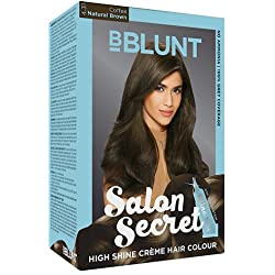 BBLUNT Salon Secret High Shine Creme Hair Colour, Natural Brown 4.31, 100g with Shine Tonic, 8ml