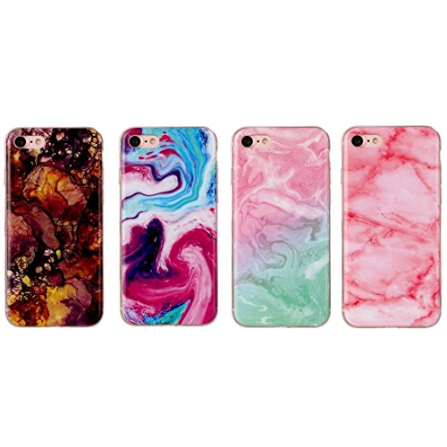 Wkae Rosa grünes Marmormuster weicher TPU schützender Fall für iPhone 7 ( SKU : Ip7g1555b ) Ip7g1555d