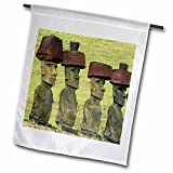 3dRose FL 85893_ 1Chile, Ostern Insel, AHU Akivi, Moai statues-sa05ksc0010-kevin Schaefer Garten Flagge, 12von 18