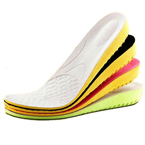 Boowhol Erhöhen Einlegesohle 1.5-3.5cm, Fersensporn Deo-Einlegesohle Atmungsaktiv Fersenkapp Ferse -Schutz Einlegesohlen Unsichtbare Erhöhung Pad (Erhöhen 1.5cm)