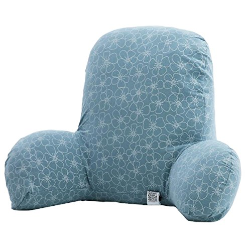Nuobo Dossier Lecture oreillers avec accoudoirs Amovibles Housse en Coton Chaise de Bureau Coussin Canapé Taille Rest Coussin Lombaire, Fleur, 58x38x30cm