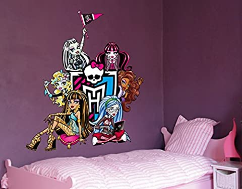 Wandtattoo Monster High Clique B x H: 30cm x 34cm von Klebefieber® (Monster High Puppen Deuce)