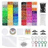 WOWOSS 12800 Perline a Fusione 48 Colore con Accessori per Oggetti Fai-da-Te e Ornamenti, Kit Perline e Assortimenti Come Giocattolo Artigianale o Regalo per Festa Compleanno Bambini