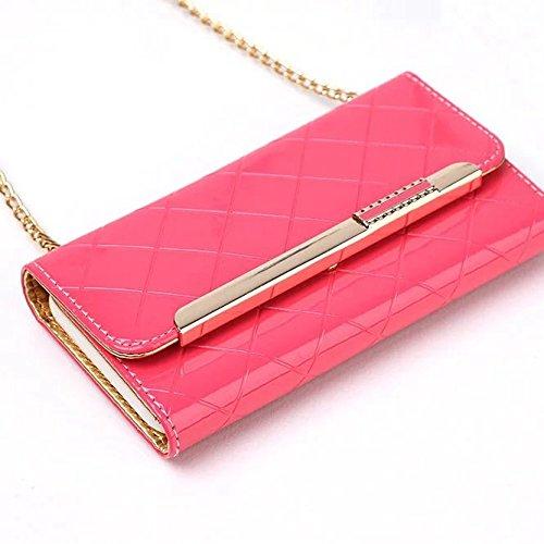 JIALUN-Telefon Fall iPhone 7 Case, Magnetverschluss Folio Wallet Stand Case mit Handschlaufe, Strass Hochwertiger PU-Lederetui, für Apple iPhone 7 ( Color : White , Size : IPhone 7 ) Pink