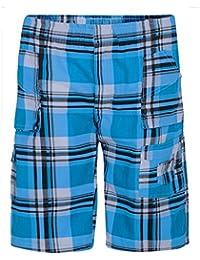 LOTMART Enfants Imprimé Tartan Écossais Poches multiples Short Vérifier La Cargaison Bas Demi-pantalons