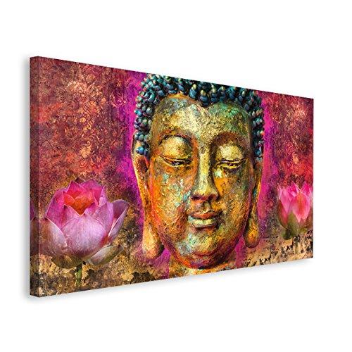 REINDERS Buddha Kopf - Wandbild 135 x 78 cm