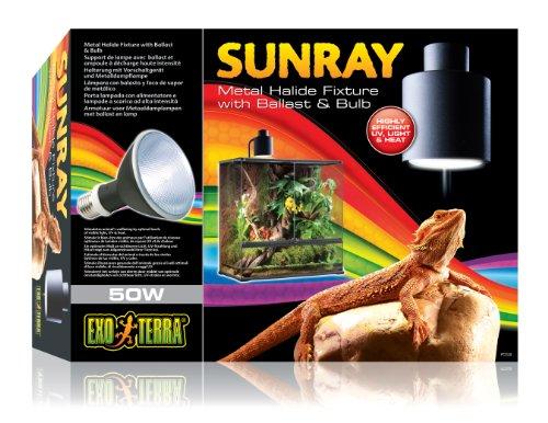 Exo Terra PT2320 Sunray Beleuchtungskomplettset inklusive 50W Metalldampflampe