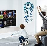 Coupe du monde de football en vinyle Style maison PVC autocollant mural décoration Papier maison...