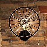 Vintage Industrie-Design Rad Deckenleuchte Wandlampe Retro Deckenlampe E27 Antik Beleuchtung Hängelampe Kreative Decorative Deckenstrahler Eisen Lampeschirm Wohnzimmer Bar Cafe Ø30cm Max 40W