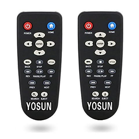 yosun New Generic Double Télécommande pour lecteur multimédia Western Digital WD TV Live Hub réseau 3To vapeur Box HD de 1To