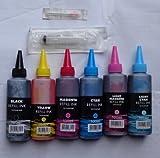6 Couleurs-colorant peinture brillante iJ marque brosse seringue pour vider cartridges