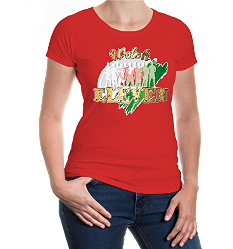 buXsbaum® Girlie T-Shirt Welsh Eleven Red-z-direct