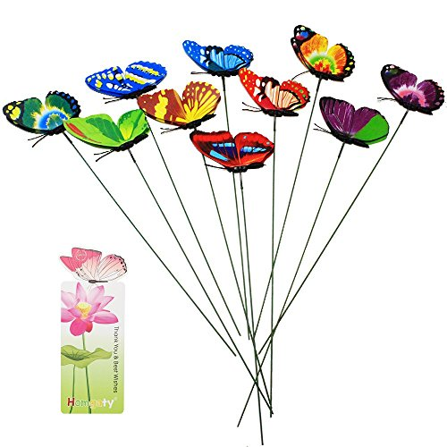 lourful Garden Butterflies On Sticks Plant Decoration Craft With Butterfly Bookmark by Homgaty (Transport-party Supplies)