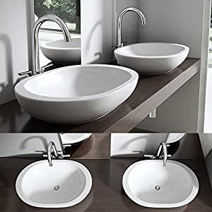 Lavabo vasque poser vier design bruxelles 5056 amazon for Amazon lavabos