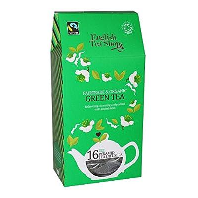 English Tea Shop Thé Vert Biologique Et équitable - 2 x 16 Infuseurs à Thé Pyramid (64 Gram)