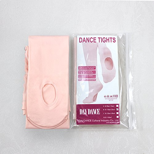 Raptas (TM) Nuovo arrivo professionale per bambini ragazze in microfibra morbida convertibile balletto danza collant, Pink, x-large