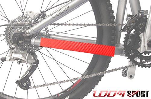 Berg Fahrrad Kettenschutz Rahmenschutz, Rote Kohlenstoff Zoom Sport