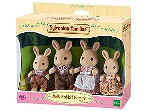 Sylvanian Families- Milk Rabbit Family Mini muñecas y Accesorios, Multicolor (Epoch para Imaginar 4108)