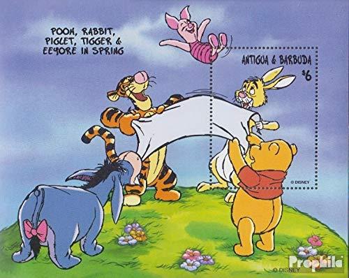 Prophila Collection Antigua und Barbuda Block390 (kompl.Ausg.) 1998 Walt-Disn.: Winnie-The-Pooh (Briefmarken für Sammler) Comics (Winnie The Pooh Sammler)