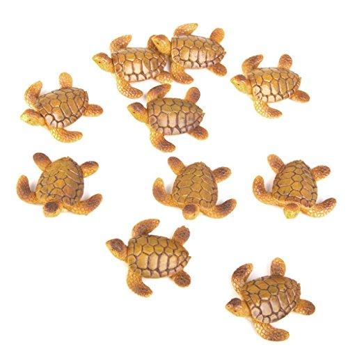 Little Turtle - SODIAL(R)10pcs Miniature Maison De Poupee Bonsai Jardin Feeri que Paysage Tortue De Mer Decoration