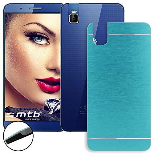 mtb more energy® Hard-Case Brushed Metal für Huawei Shot X/Honor 7i (5.2'') | Blau | Schutz-Hülle Cover Tasche