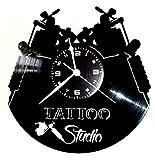 Instant Karma Wanduhr aus Vinyl, Vintage-Geschenk, Handgefertigt, Ink Studio Tattoo