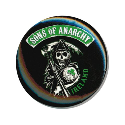 "Preisvergleich Produktbild SONS OF ANARCHY, Ireland Logo, Officially Licensed, 1.25"" x 1.25"", Button Schaltfläche"