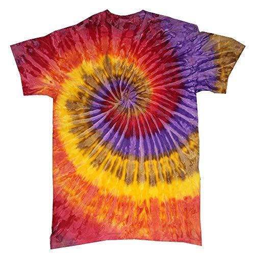 Colortone - Unisex Batik T-Shirt \'Swirl\' / Festival, L