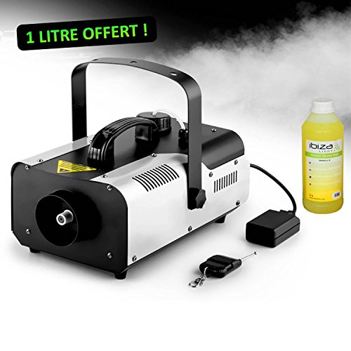 W Kapazität 1L + 2Fernbedienungen (kabelgebunden,/schnurloser) + ETRIER + 1Liter (1000w Nebelmaschine)