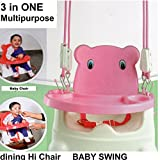 #3: 5 in 1 Booster Seat for Kids Babies Multipurpose Folding Swing Chair