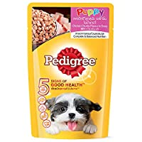 Pedigree Puppy Chicken Chunks in Gravy - 130 gm