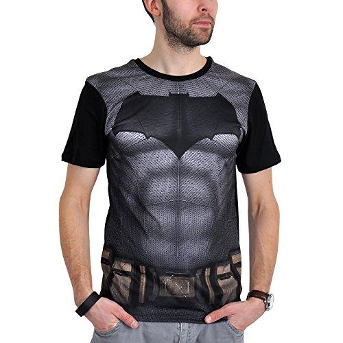 DC Comics Batman vs. Superman Herren Fan T-Shirt - Bat Costume AOP (M, (Kostüm Aus Superman Fan)