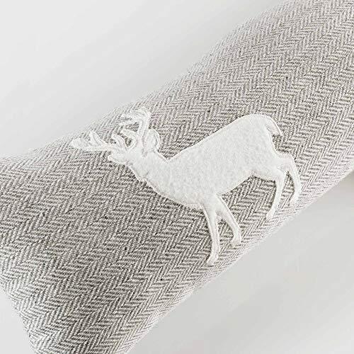 Couleur Montagne Caribou Bas de Porte, Polyester, Naturel, 85 x 15 cm