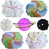 Babymajawelt® Molton Flanell Waschlappen, Kosmetiktücher 25x25 - 10er SUPER SOFT …