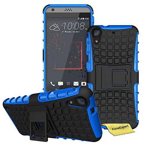HTC Desire 530 Handy Tasche, FoneExpert® Hülle Abdeckung Cover schutzhülle Tough Strong Rugged Shock Proof Heavy Duty Case für HTC Desire 530 + Displayschutzfolie