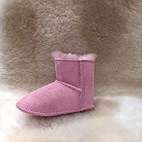 Emu Australia Kids Baby Bootie Winter Real Sheepskin Boots Size 6M Pink