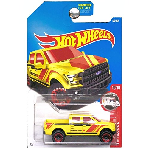 Hot Wheels 2017 HW Rescue '15 Ford F-150 65/365, Yellow
