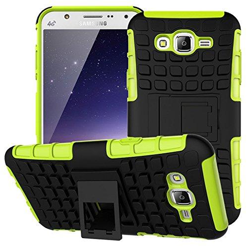 Nnopbeclik Samsung Galaxy S3 / S3 Neo Hülle, Dual Layer Rugged Armor stoßfest Handy Schutzhülle Silikon Tasche für Samsung Galaxy S3 / S3 Neo - Grün + 1x Display Schutzfolie Folie