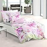 Bierbaum Mako-Satin Bettwäsche Blütenparadies pink 1 Bettbezug 135x200 cm + 1 Kissenbezug 80x80 cm