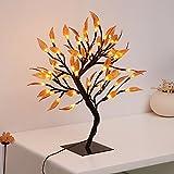 CozyHome LED Kupfer Baum - Blätter Stehbaum | 45CM Hoch | 48 LEDs warm-weiß - kein lästiges austauschen der Batterien | NICHT batterie-betrieben sondern mit Netzstecker