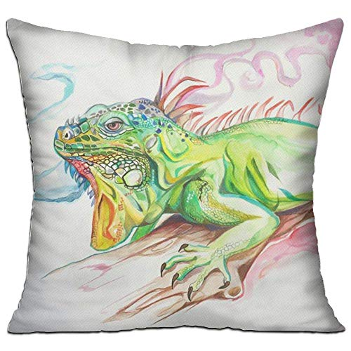 fdgjfghjdfj Lizard Dragon Art Color,Pillow Covers Decorative Pillowcase Cushion Covers with Zipper 18x18 Inches