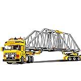 Modbrix Bausteine LKW Tieflader Schwertransporter, Konstruktionsspielzeug 389 Teile