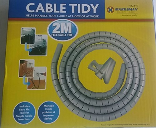 New Grey 2 meter cabke tidy kit PC wire organizer, used for sale  Delivered anywhere in Ireland