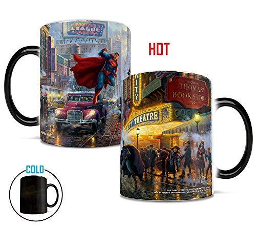 C Comics Batman Superman Wonder Woman Justice League - Thomas Kinkade - Morphing Mugs - Hitzeempfindliche Tassen ()