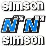 Aufkleber Sticker Set Simson (W-S) S50-N Blau - Alte Form -Tank und Seitendeckel
