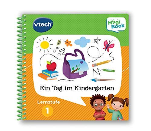 Vtech 80-481204 Lernstufe 1-EIN Tag im Kindergarten MagiBook Lernbücher, Mehrfarbig